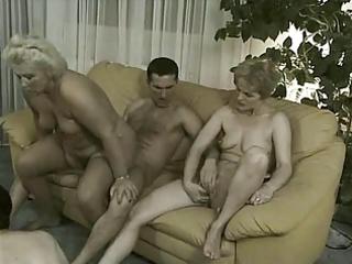 grannies in orgy - 2 old harlots &; 3
