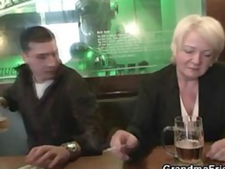 totally drunk granny takes cocks