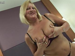 sexy british grandma loves her dildo