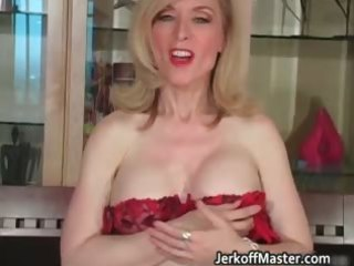 lewd blonde mum with big hooters part1
