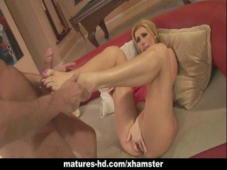 mature golden-haired milf takes a massive pounder