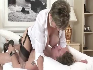 older stocking femdom fellatio fuck