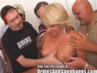 10 hole creampie wench wife receives bukkake rods