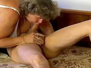avid old mama gets large dong irrumation and in