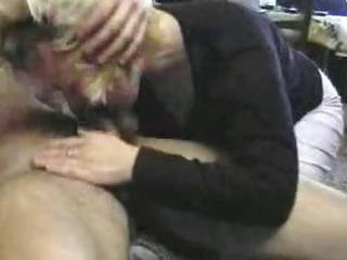 older russian blonde and a young fellow acquires