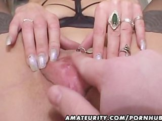 mature non-professional wife gives head with cum