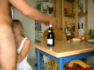 golden-haired wife receives fucked by her
