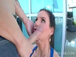 bitchy brunette mom unfathomable throating big