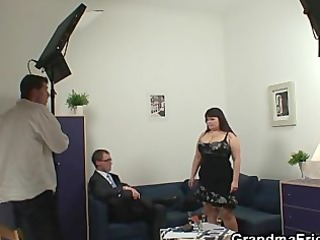biggest titted woman takes two cocks