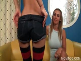 mamma and daughter showing pussies