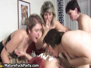 group of lustful lesbian older babes love part6