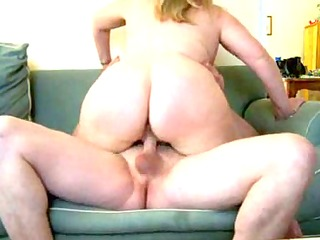 aged overweight wife on bed