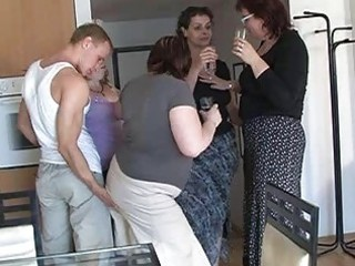 four sexually excited mammas seduced cute chap to