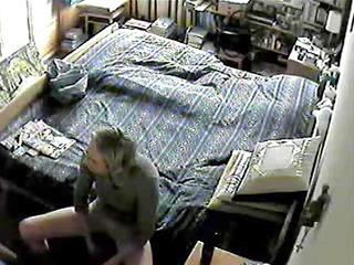 mamma caught masturbating on hidden web camera