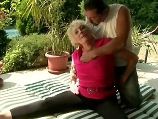 horny granny fucking with her tutor