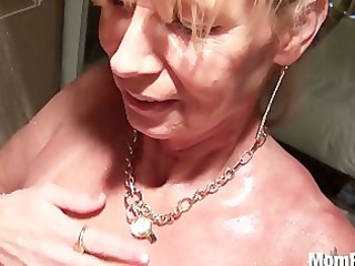 breasty cougar fucked in the shower bts