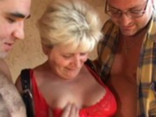blond granny hairy