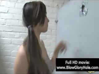 gloryhole - sexy busty babes love sucking schlong