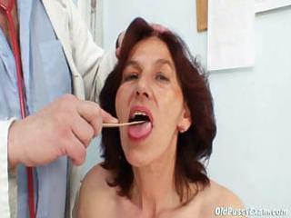 shaggy vagina grandma visits pervy woman doctor