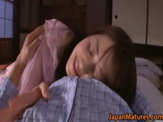 excited japanese aged women engulfing