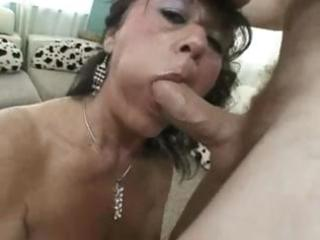 breasty mature debella eats his pounder and