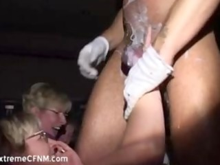 wild party angels sucking a female strippers cock