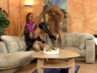 german redhead milf is in a way and sucks and