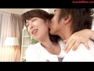 older oriental is engulfing and getting licked by
