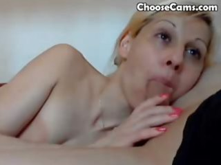 blonde d like to fuck gives a blowjob