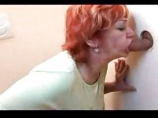 redhead mature banged throughout gloryhole