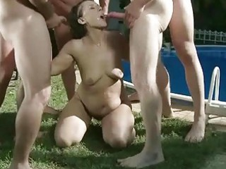 granny in bizarre pissing and oral-stimulation act