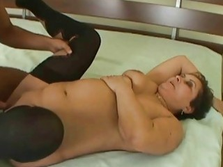 wicked granny receives drilled hard by young stud