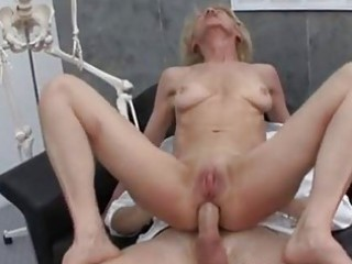 older granny blonde marie fucking with doctor