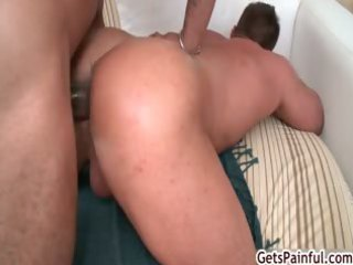aged muscle lad sucking darksome penis