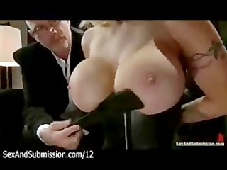 massive boobs blond spank and irrumation by spouse